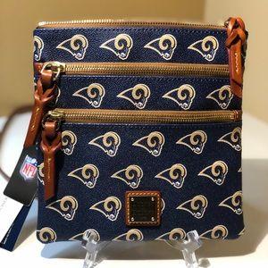 Dooney & Bourke LA Rams Triple-Zip Crossbody Bag